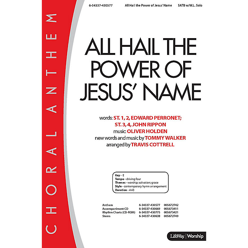 All Hail the Power of Jesus' Name - Downloadable Stem Tracks