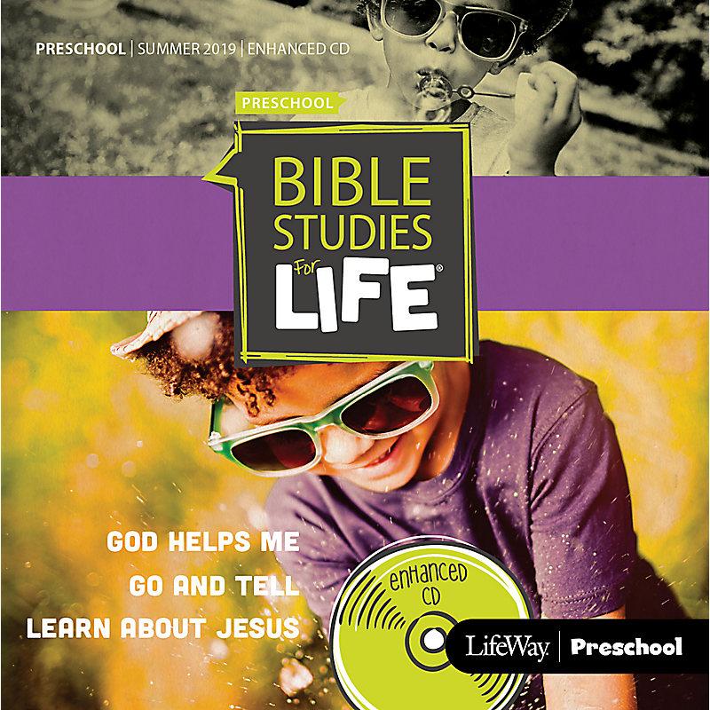 Bible Studies For Life: Preschool Enhanced CD Summer 2019