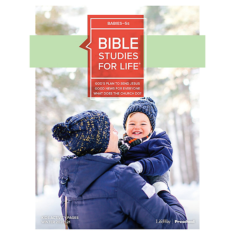Bible Studies for Life: Babies-5s Activity Pages Winter 2021