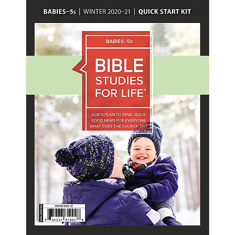 Bible Studies for Life: Babies-5s Quick Start Kit Winter 2021