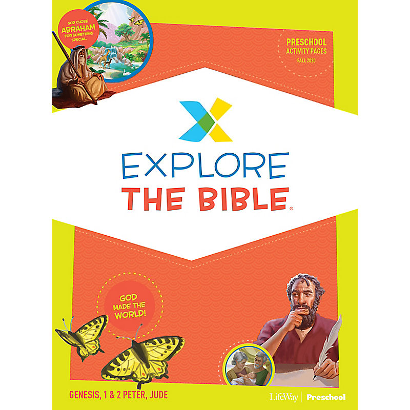 Explore the Bible: Preschool Activity Pages - Fall 2020