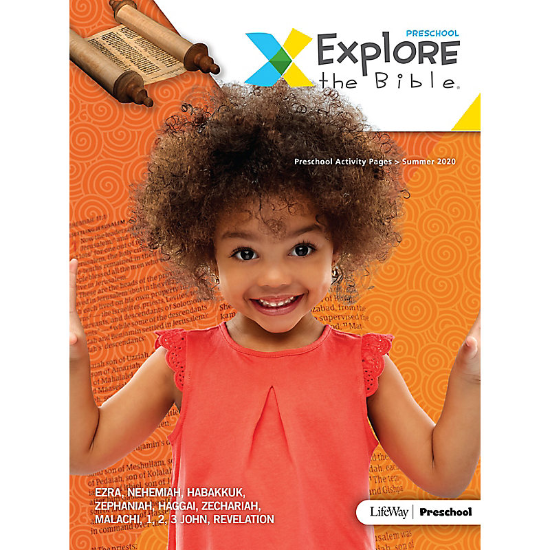 Explore the Bible: Preschool Activity Pages - Summer 2020