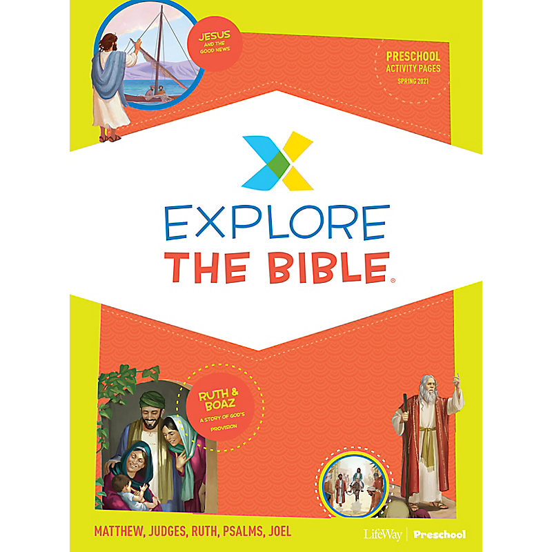 Explore the Bible: Preschool Activity Pages - Spring 2021