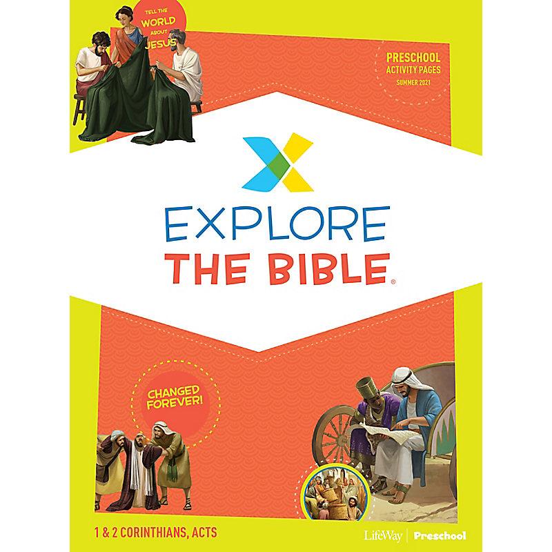 Explore the Bible: Preschool Activity Pages - Summer 2021
