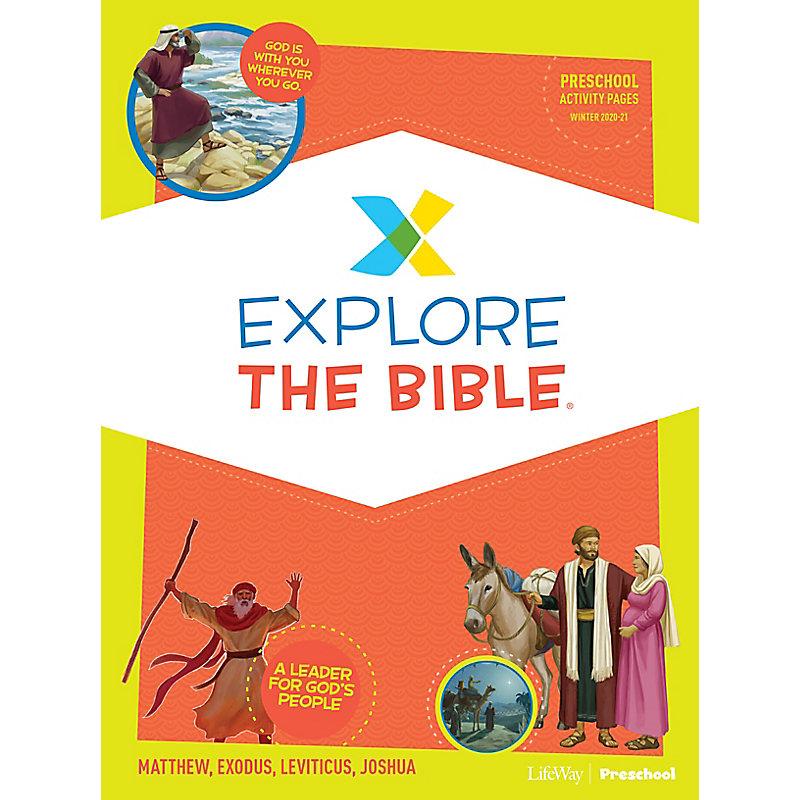 Explore the Bible: Preschool Activity Pages - Winter 2021