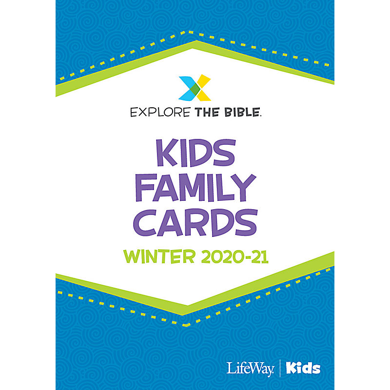 Explore the Bible: Kids Family Cards - Winter 2021