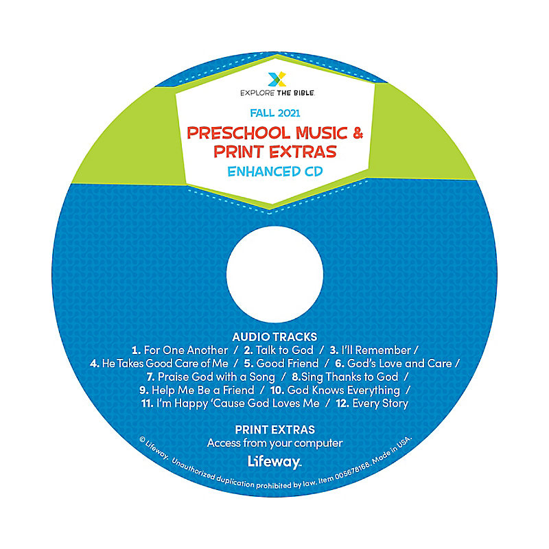 Explore the Bible: Preschool Music and Print Extras - Fall 2021