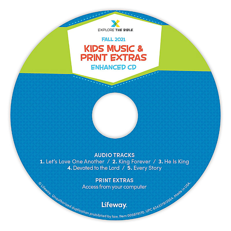 Explore the Bible: Kids Music and Print Extras - Fall 2021