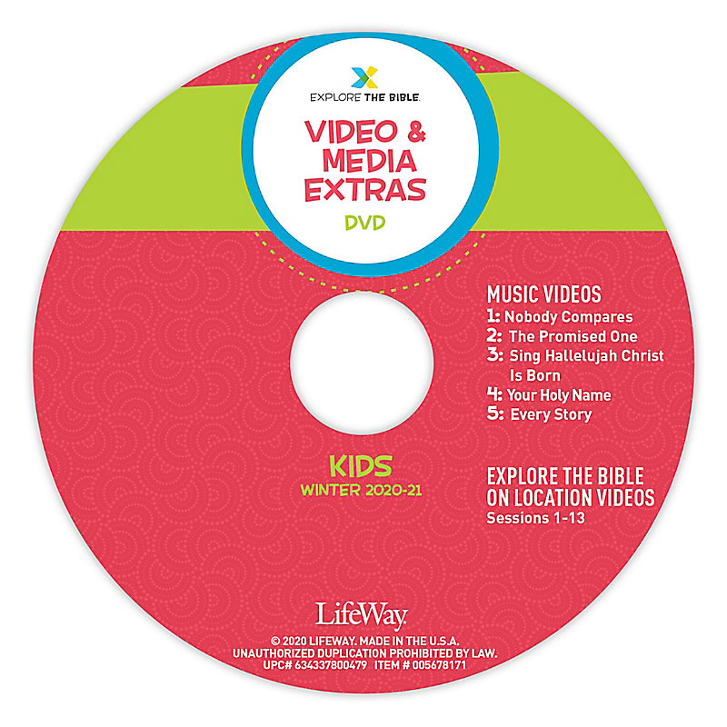 Explore the Bible: Kids Video and Media Extras - Winter 2021