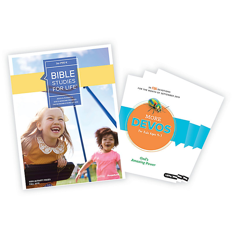 Bible Studies for Life: Kids 3s-Pre-K Activity Pages/More Bundle Fall 2019