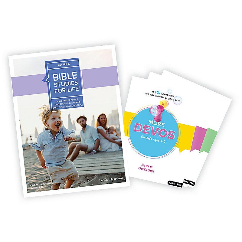 Bible Studies for Life: 3s-Pre-K Activity Pages/More Bundle Summer 2021