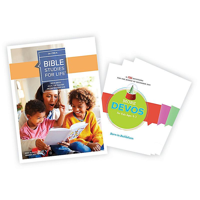 Bible Studies for Life: 3s-Pre-K Activity Pages/More Bundle Winter 2021