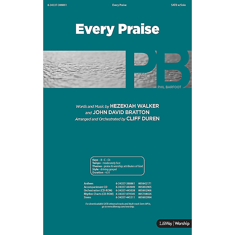 Every Praise - Downloadable Stem Tracks