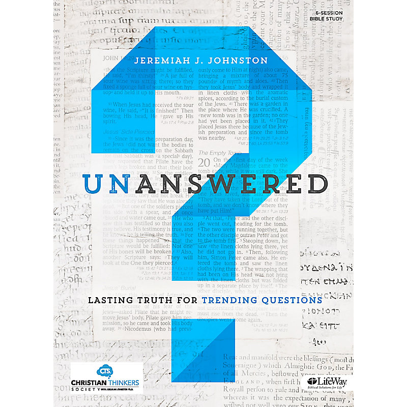 Unanswered - Bible Study Book