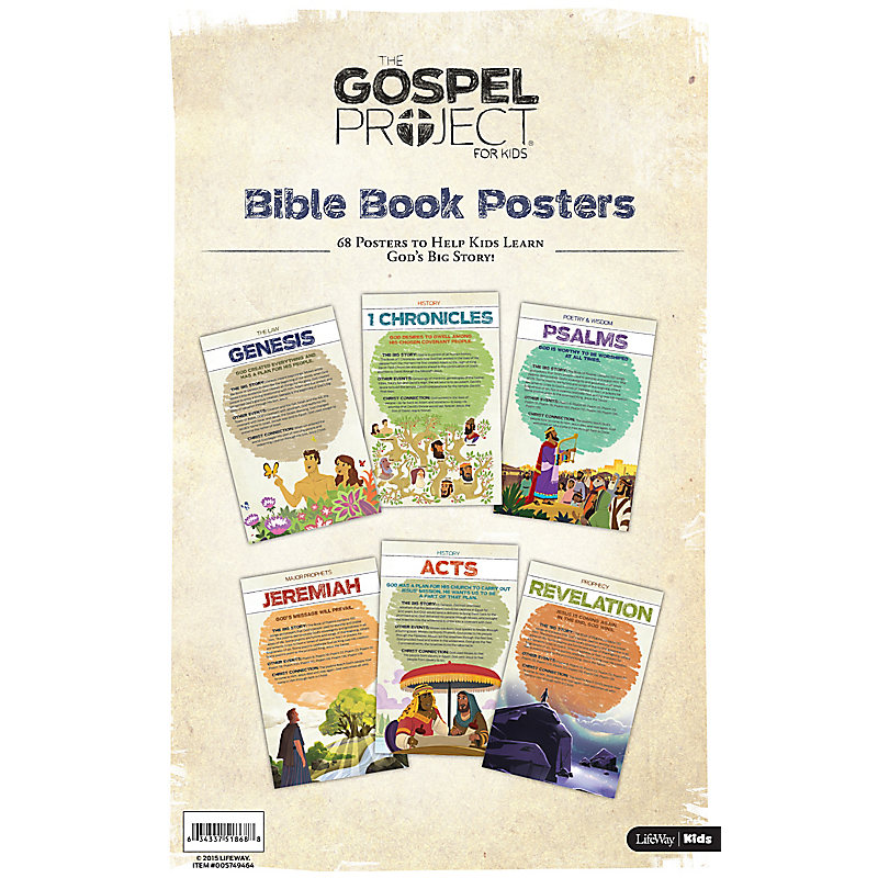 The Gospel Project for Kids: Books of the Bible Posters