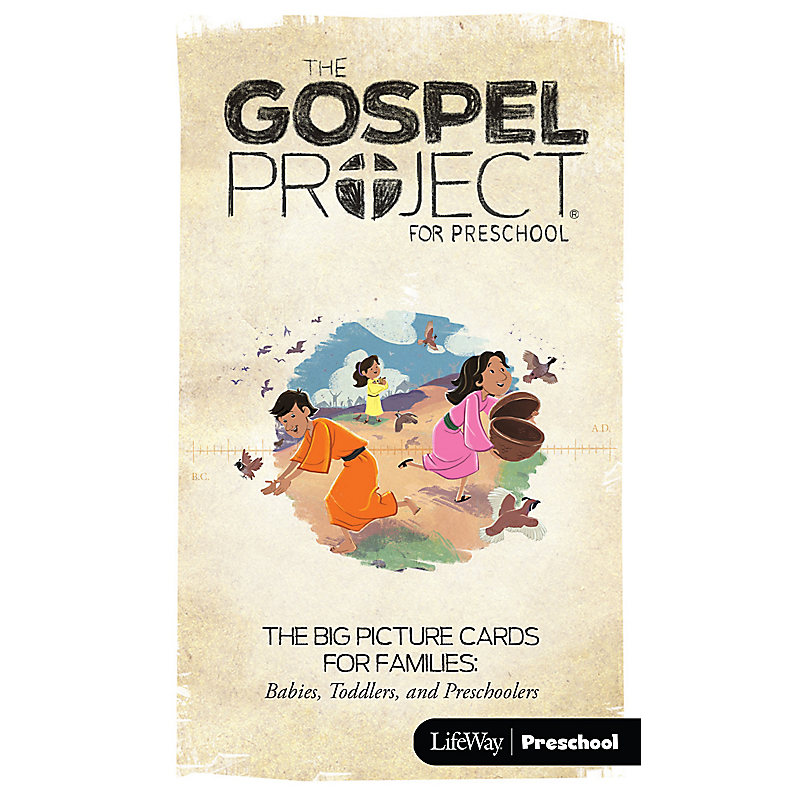 The Gospel Project for Kids: Volume 2 God Delivers Big Picture Cards for Families: Preschool