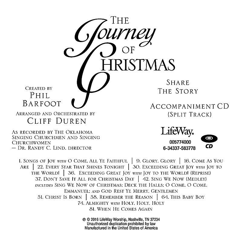 The Journey of Christmas - Accompaniment CD