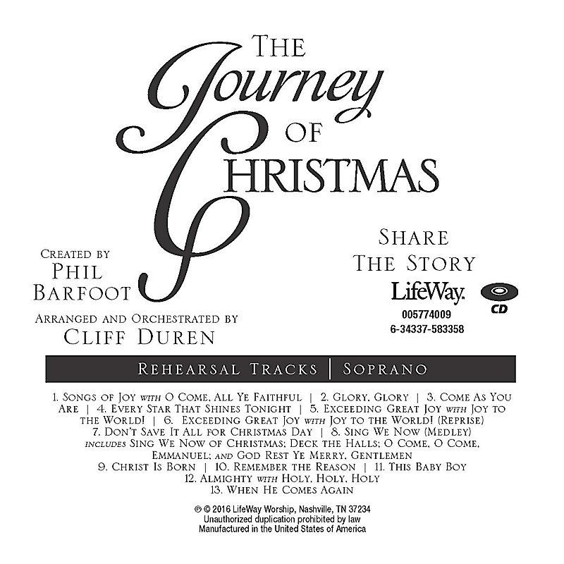 The Journey of Christmas - Soprano Rehearsal CD