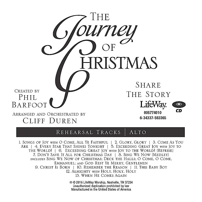 The Journey of Christmas - Alto Rehearsal CD