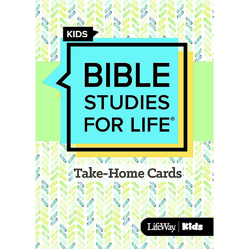 Bible Studies For Life: Kids Take Home Cards Fall 2019