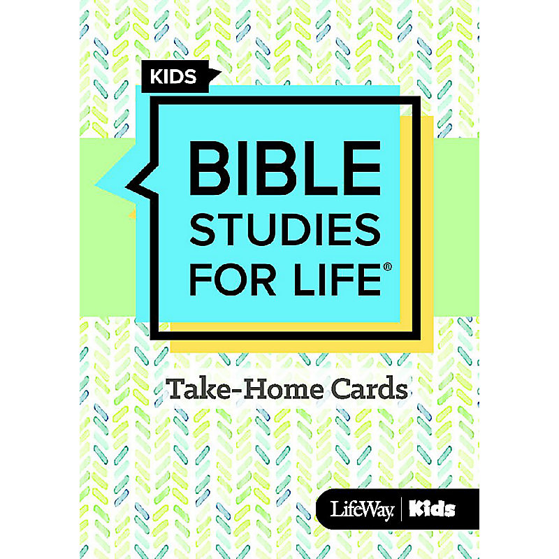 Bible Studies For Life: Kids Take Home Cards Fall 2020