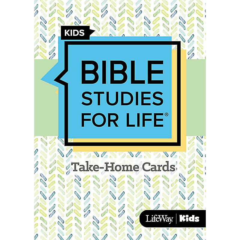 Bible Studies For Life: Kids Take Home Cards Spring 2020