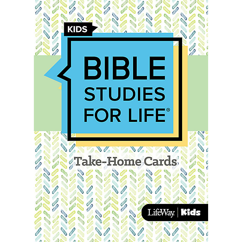 Bible Studies For Life: Kids Take Home Cards Summer 2021