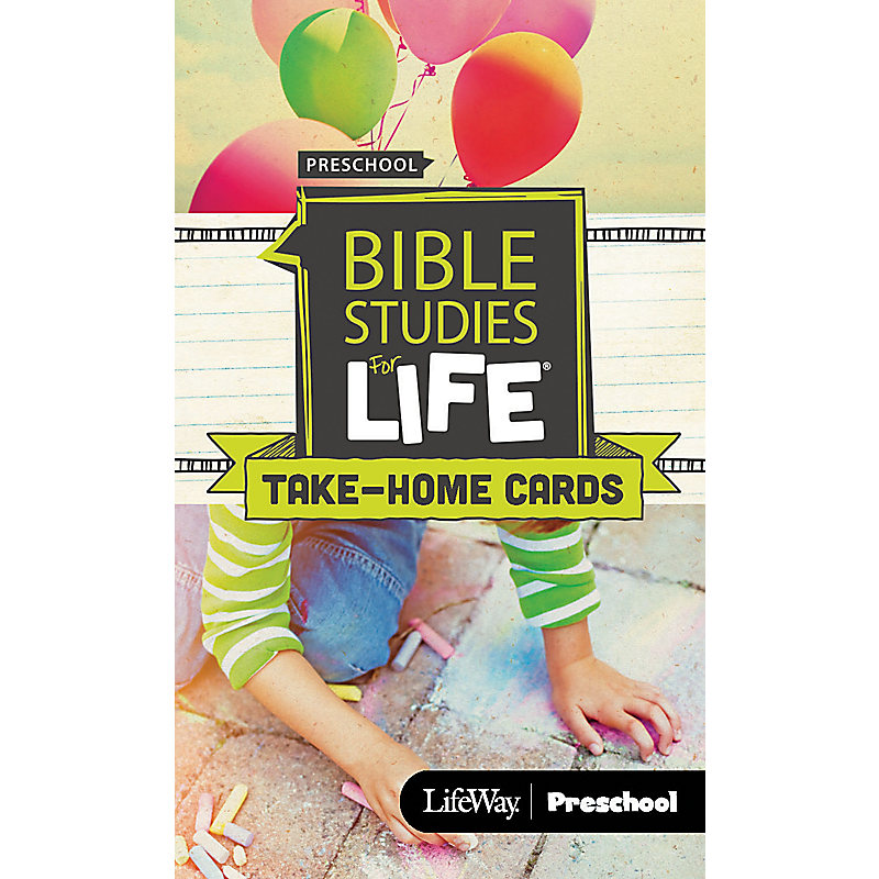 Bible Studies For Life: Preschool Take Home Cards Spring 2019