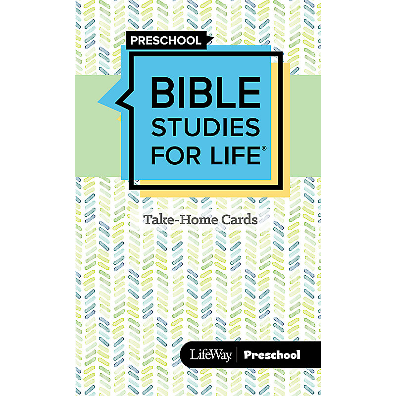 Bible Studies For Life: Preschool Take-Home Cards Summer 2021