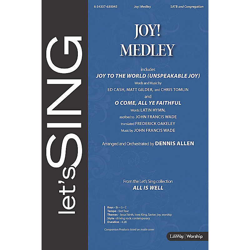 Joy! Medley - Downloadable Bass Guitar Rehearsal Track