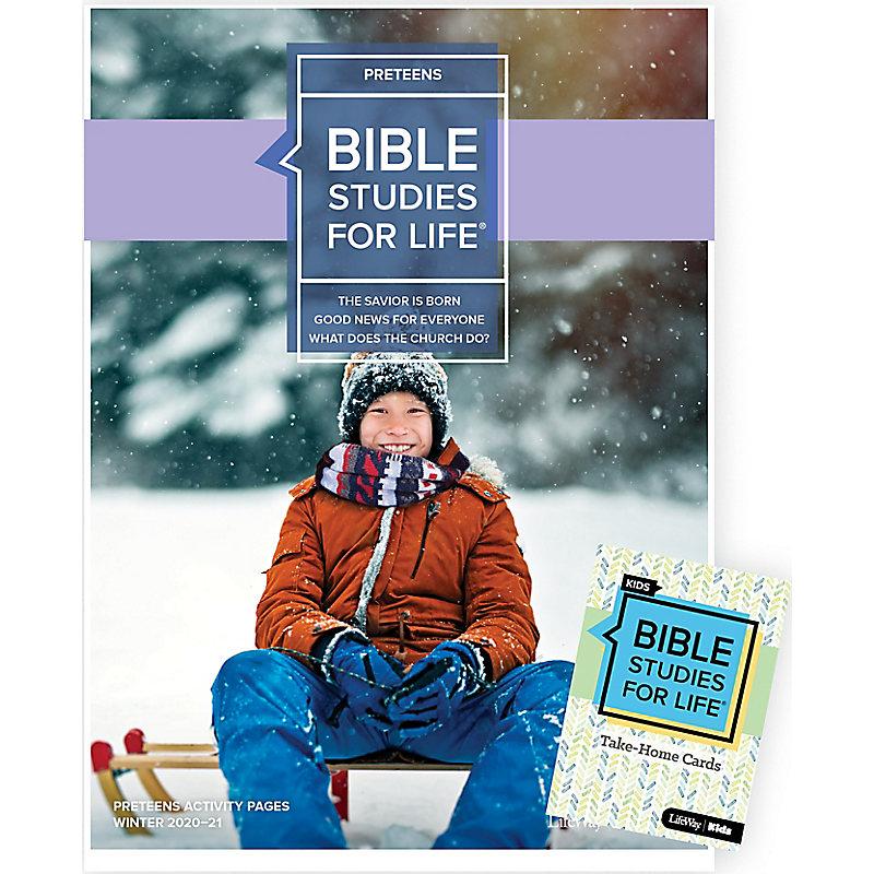 Bible Studies for Life: Preteens Combo Pack Winter 2021