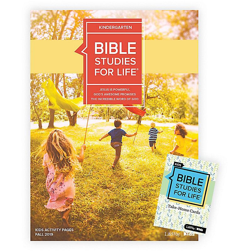 Bible Studies For Life: Kindergarten Combo Pack Fall 2019