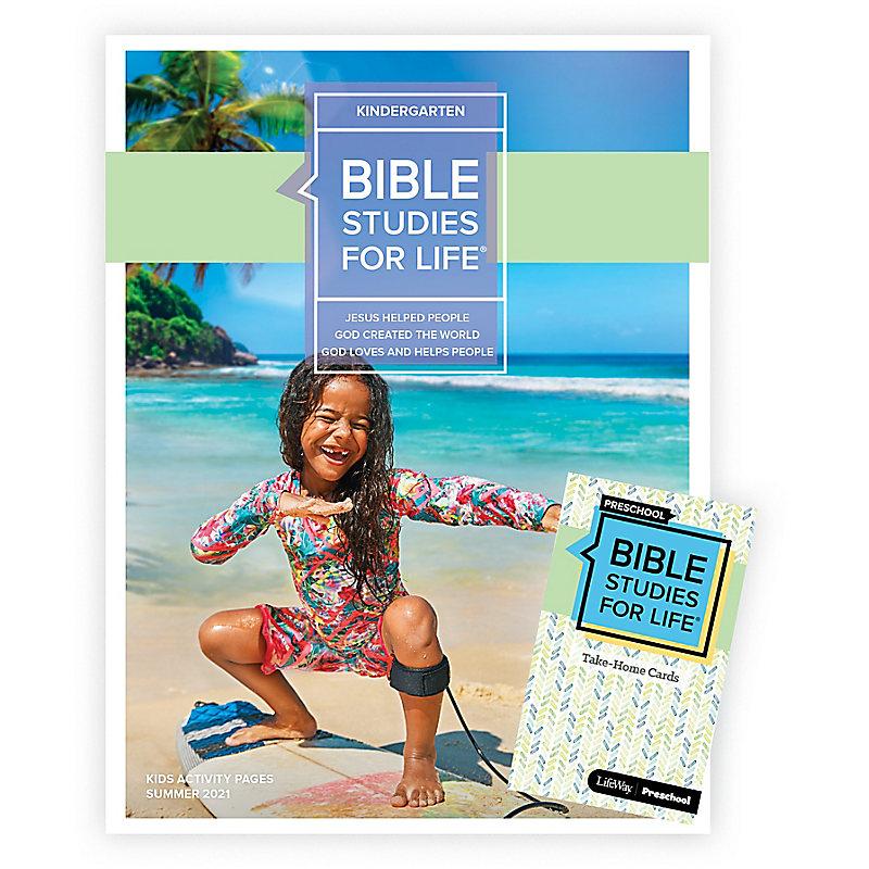 Bible Studies For Life: Kindergarten Combo Pack Summer 2021