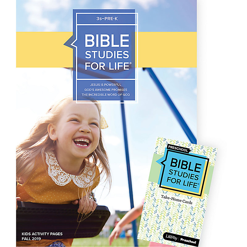 Bible Studies For Life: 3s–Pre-K Combo Pack Fall 2019