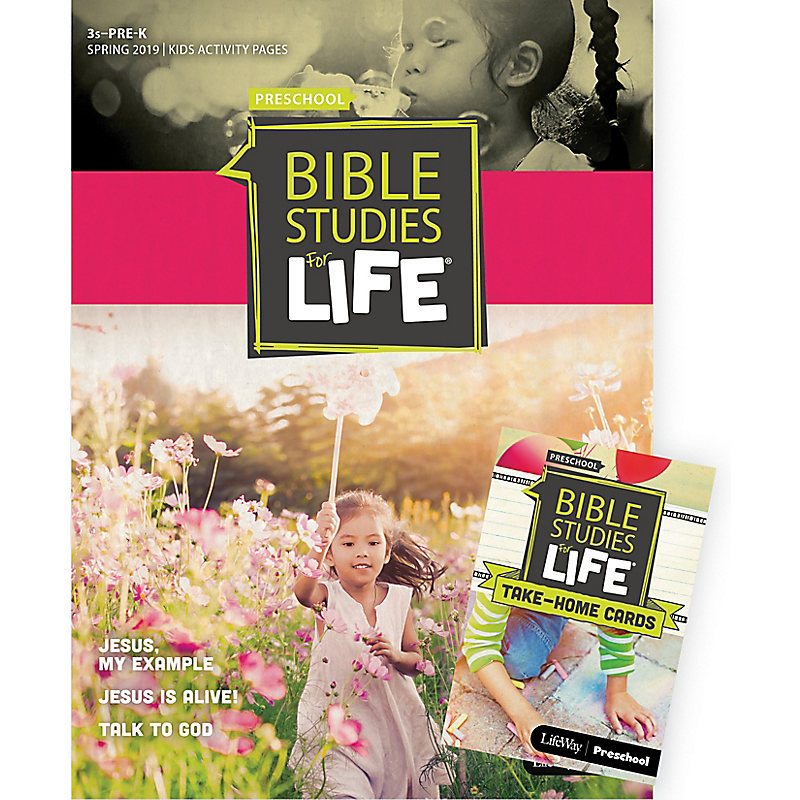 Bible Studies For Life: 3s–Pre-K Combo Pack Spring 2019