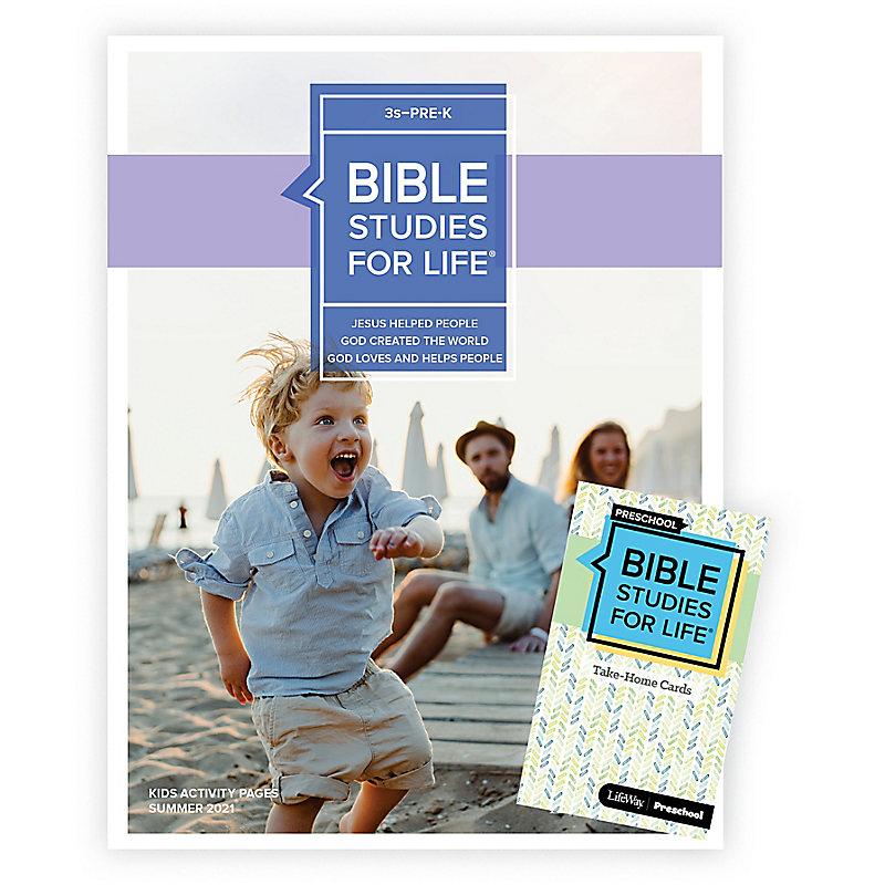 Bible Studies For Life: 3s–Pre-K Combo Pack Summer 2021
