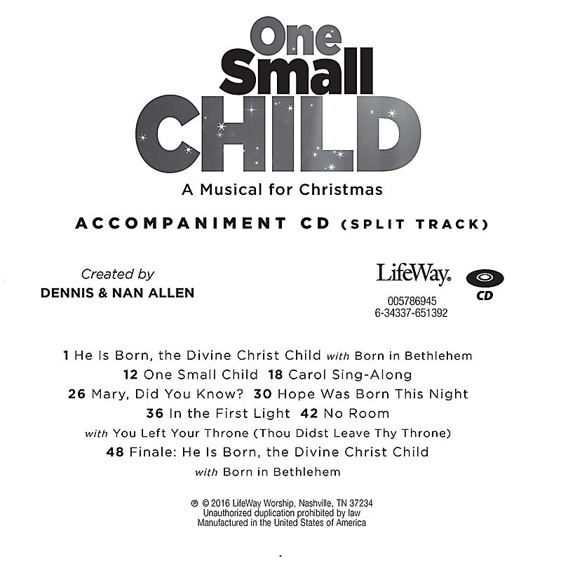 One Small Child - Accompaniment CD