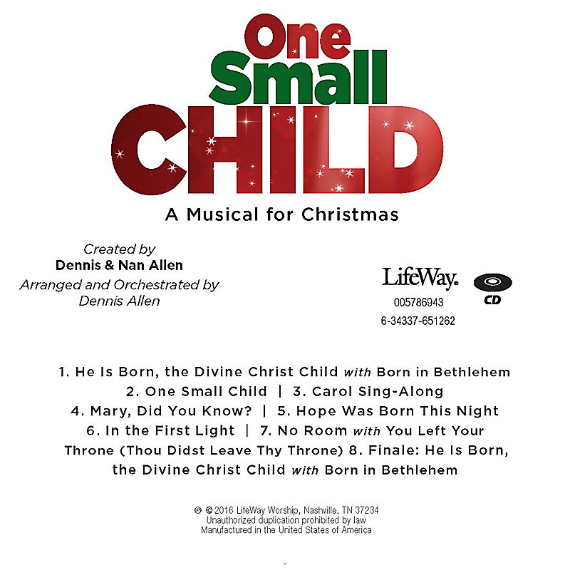 One Small Child - Orchestration CD-ROM