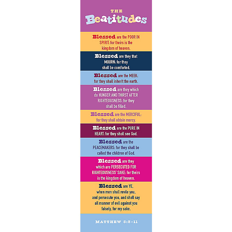 Beatitudes - Kids Version - Bookmark (Pkg 25) General Worship