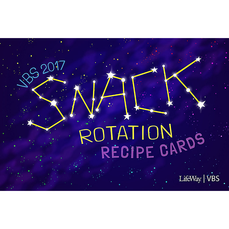 VBS 2017 Snack Rotation Recipe Cards
