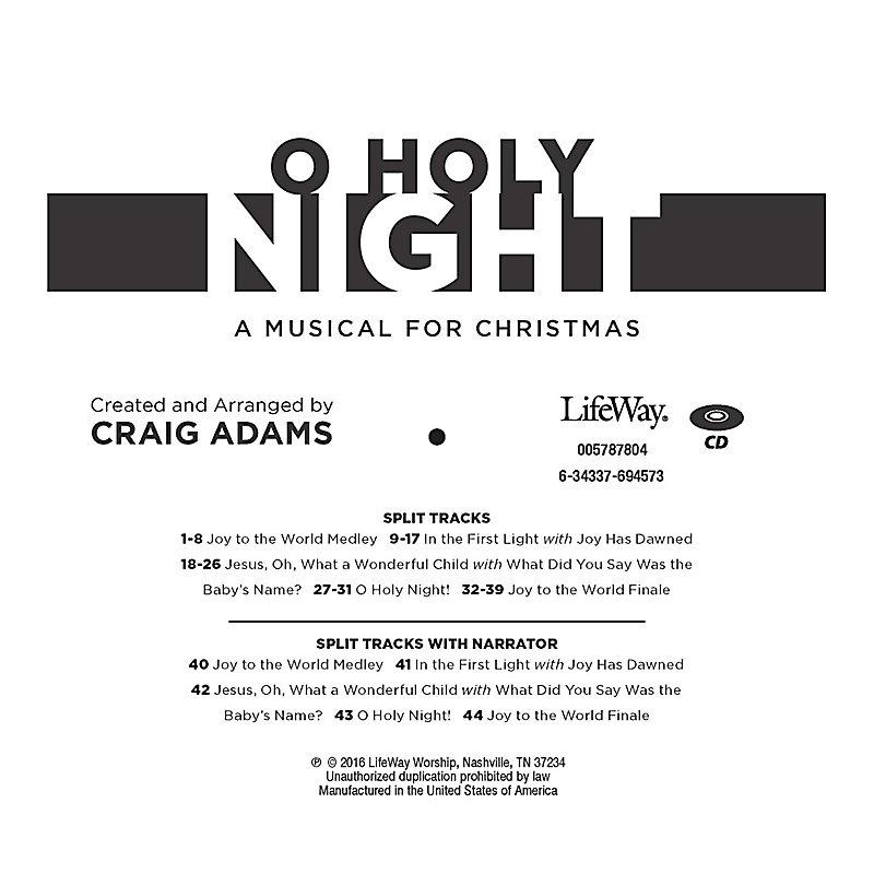 O Holy Night - Accompaniment CD