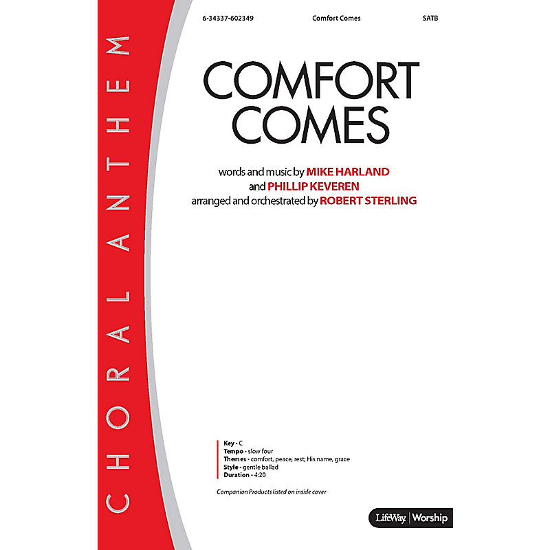 Comfort Comes - Anthem Accompaniment CD