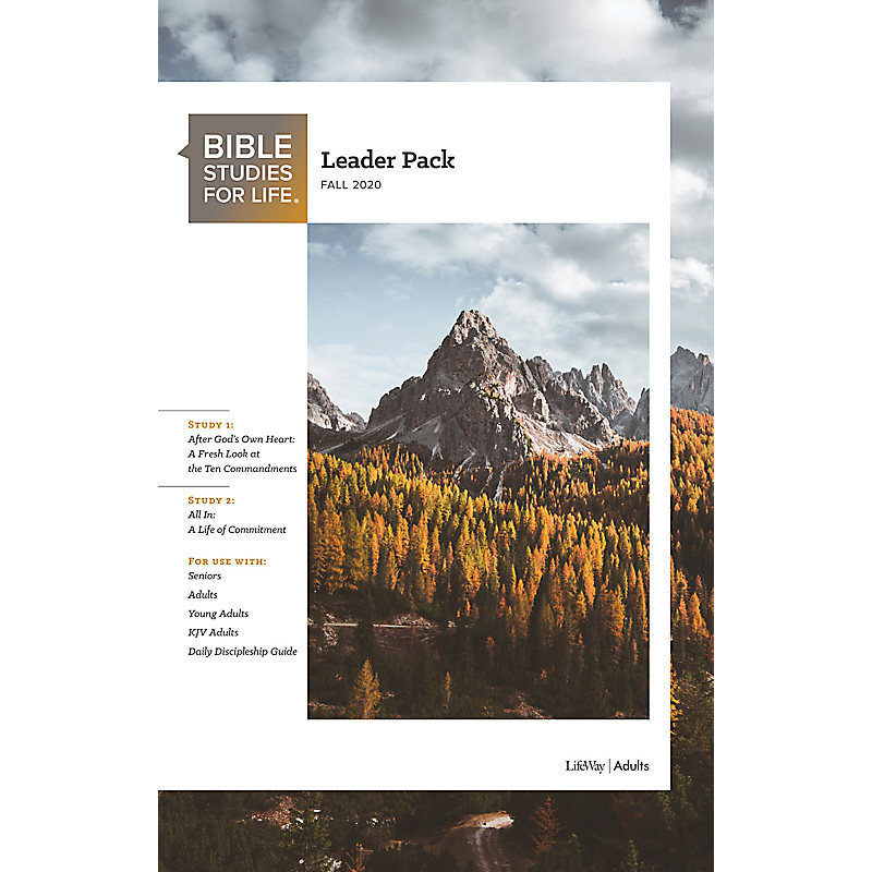 Bible Studies for Life: Adult Leader Pack - Fall 2020