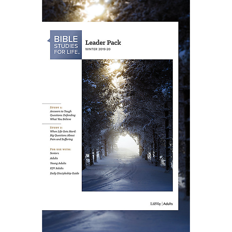 Winter Bible Study 2020.Bible Studies For Life Adult Leader Pack Winter 2020 Use With Any Leader Guide Or The Daily Discipleship Guide