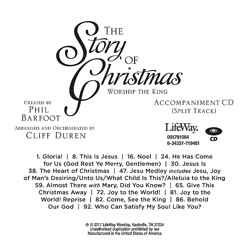 The Story of Christmas - Accompaniment CD