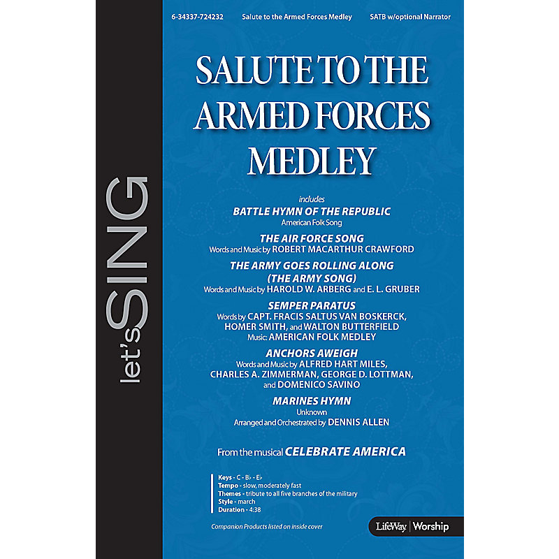 Salute to the Armed Forces Medley - Downloadable Lyric File - LifeWay