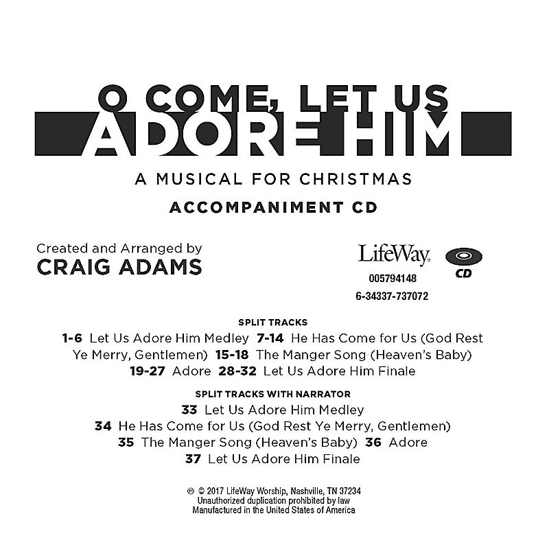 O Come, Let Us Adore Him - Accompaniment CD
