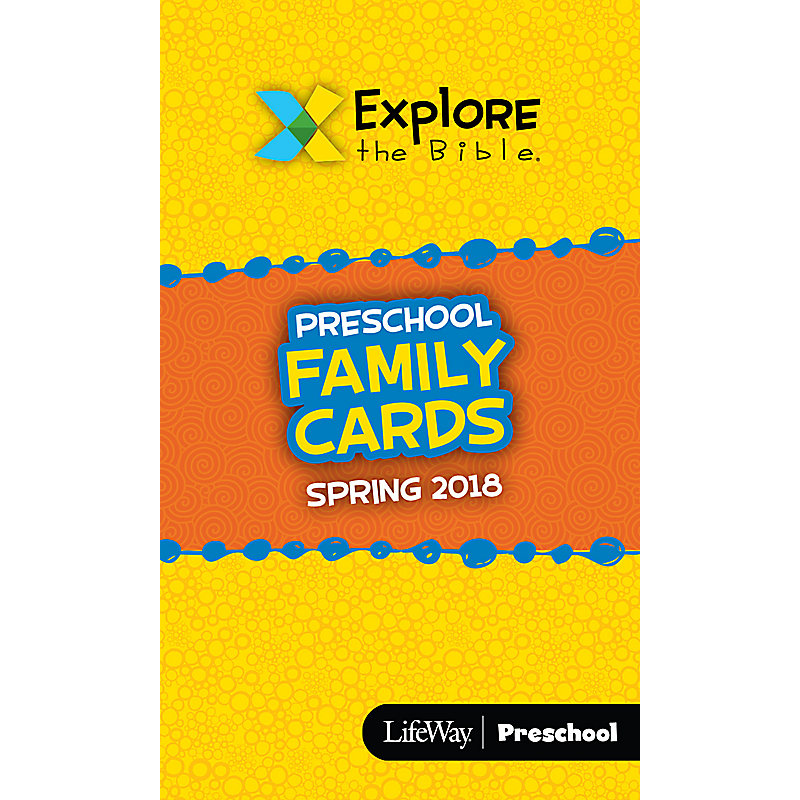 Explore the Bible: Preschool Family Cards Spring 2018