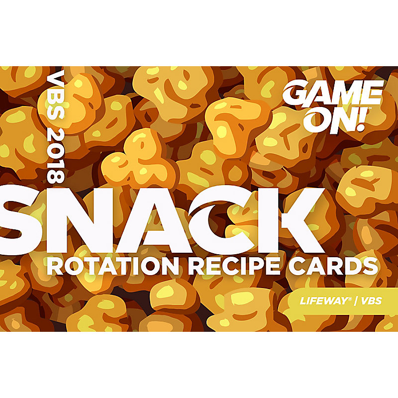 VBS 2018 Snack Rotation Recipe Cards