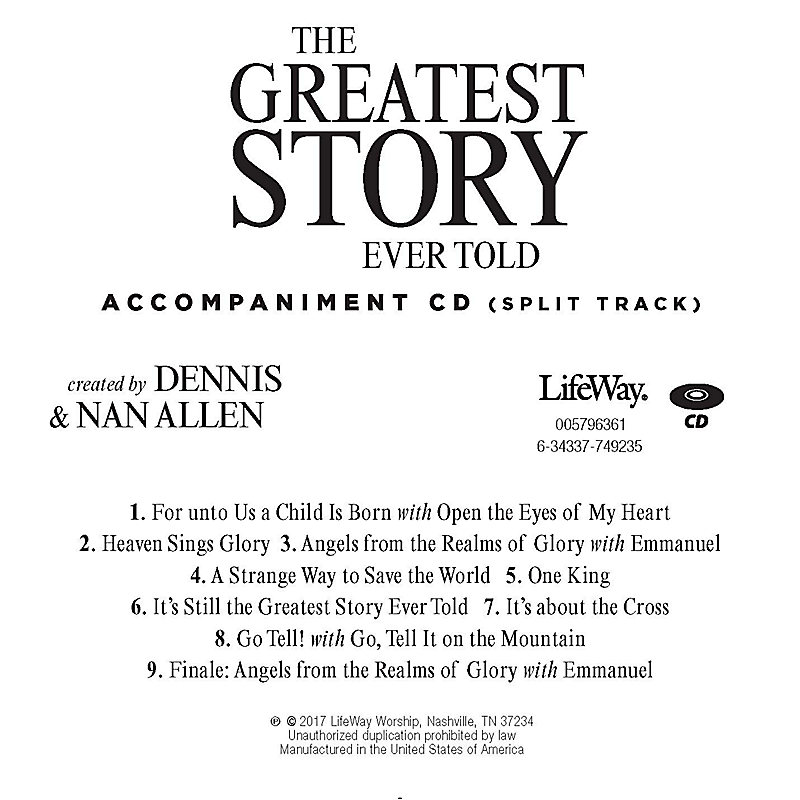 The Greatest Story Ever Told - Accompaniment CD